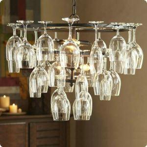 (Entrepôt UE) 240W lustre suspension avec 6 lumières caractéristique verre de vin (verre de vin non incluse)