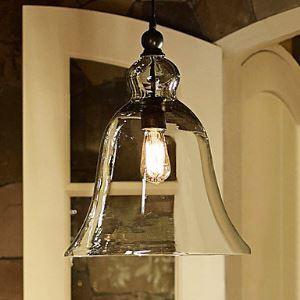 (Entrepôt UE) (En Stock) 60W E27 Pendentif lampe avec abat-jour en forme de cloche de verre