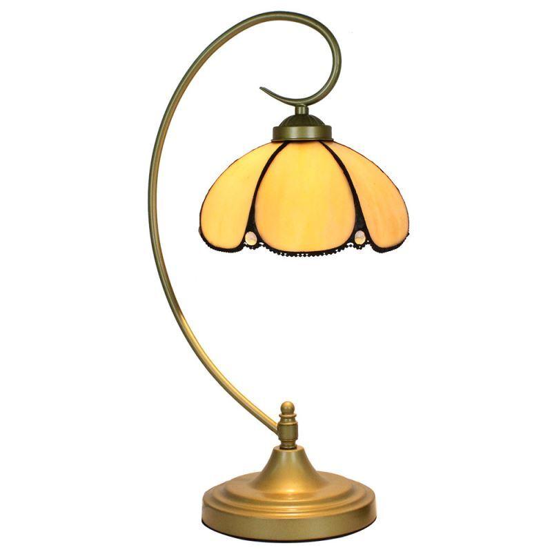 lampe poser tiffany pour chevet vintage jaune clair luminaire chambre salon cuisine. Black Bedroom Furniture Sets. Home Design Ideas