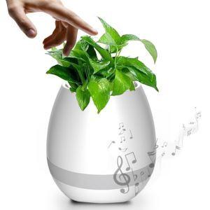 Mini pot de fleurs music intelligent sensible au touché piano Bluetooth haut parleur trois couleurs à choisir(plantes non incluses)