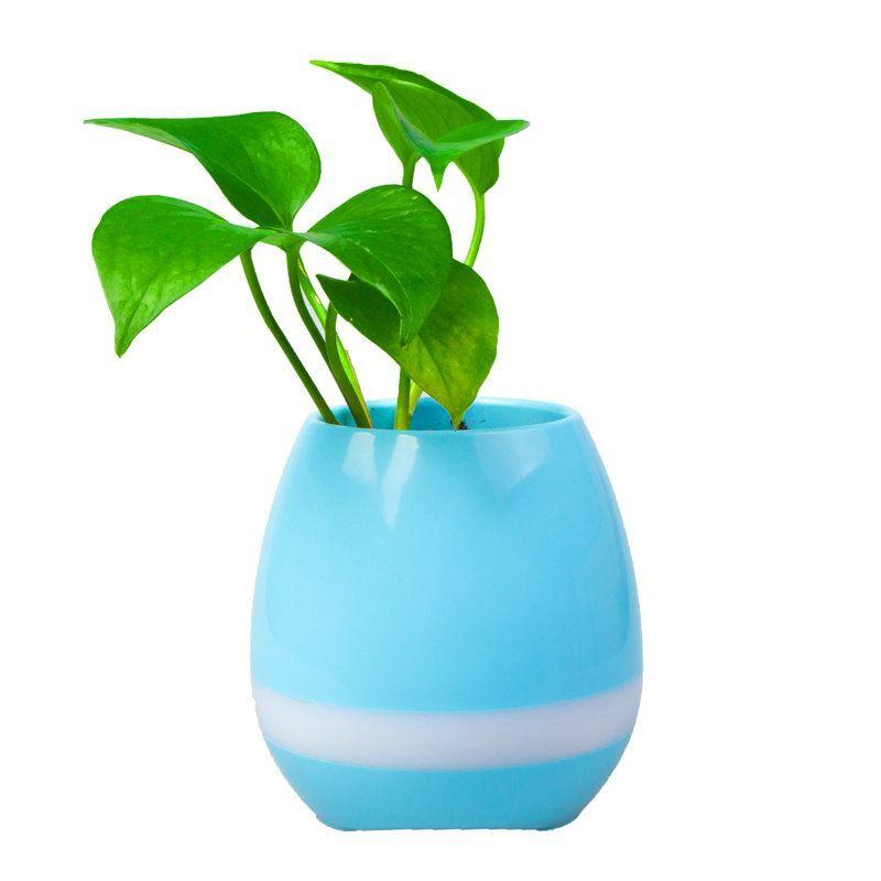 mini pot de fleurs music intelligent sensible au touch piano bluetooth haut parleur trois. Black Bedroom Furniture Sets. Home Design Ideas