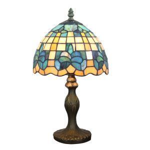 Lampe à poser tiffany pour chevet vintage base en résine à motif colore luminaire chambre salon cuisine