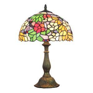 Lampe à poser en verre tiffany pour chevet table fleurs luminaire pour salon cuisine chambre