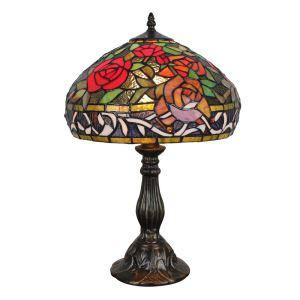Lampe à poser en verre tiffany pour chevet table libellule rose luminaire pour salon cuisine chambre