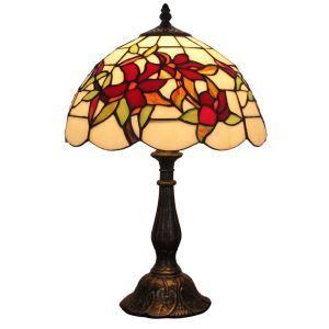 Lampe à poser en verre tiffany D 30 cm pour chambre