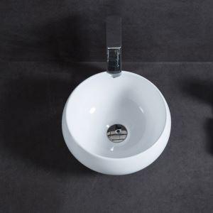 Vasque à poser Lavabo en céramique pour salle de bains toilettes style moderne simple mini rond 32cm