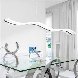 Livraison gratuite suspension LED en forme de vague L 97 cm luminaire cuisine chambre salon pas cher
