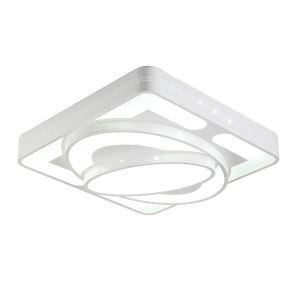 (Entrepôt UE) Plafonnier Moderne mode simple LED Acrylique Carré blanche encastrée Lumière Salon Chambre luminaire cuisine Salle à manger Salle d'étude