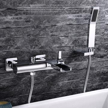 Douche 3 Murs robinet de douche pour salle de bain chromé style moderne simple