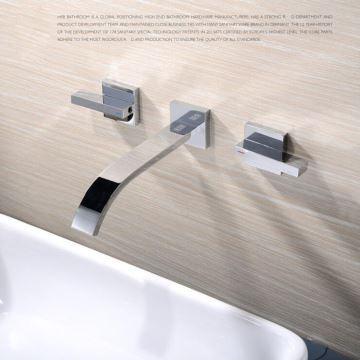 Robinet de lavabo vasque pour salle de bain chromé style moderne
