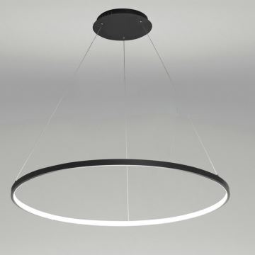 suspension led noir rond luminaire design pour salon salle manger dans style moderne simple. Black Bedroom Furniture Sets. Home Design Ideas