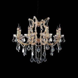 Lustre cristal à 6 lampes d'or baroque pour chambre salle couloir style moderne