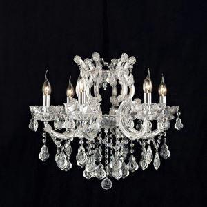 Lustre cristal à 6 lampes baroque pour chambre salle couloir