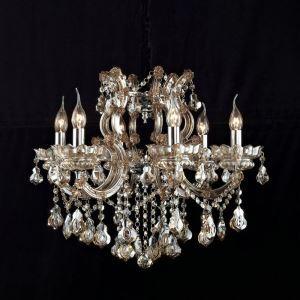 Lustre cristal baroque à 6 lampes lampe pour chambre salle couloir