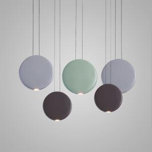 Suspension LED en résine D 48 cm ronde design pour salle restaurant bar 3 modèles L