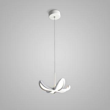 Suspension LED blanche 1 lampe en forme de fleur lampe pour chambre ...