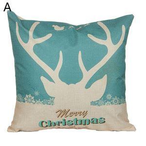 Coussin Noël oreiller à motif de cerf 5 modèles décoratif pour canapé sofa chambre salon