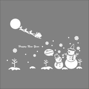 Sticker mural adhérente Neige Noël décoration pour chambre salle