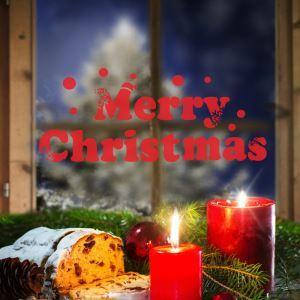 Merry Christmas Sticker mural adhérente Père Noël décoration pour chambre salle