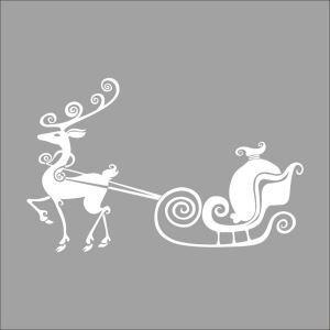 Stickers mural Noël décoration à motif de cerf design