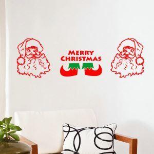 Sticker mural adhérente Père Noël décoration pour chambre salle