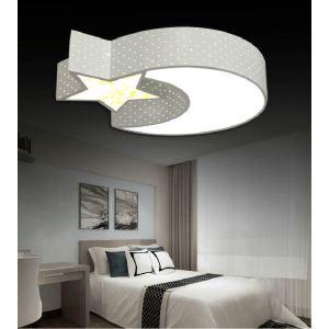 Plafonnier LED étoile lune géométrique acrylique D55cm pour salle à manger chambre luminaire à 2 modèles