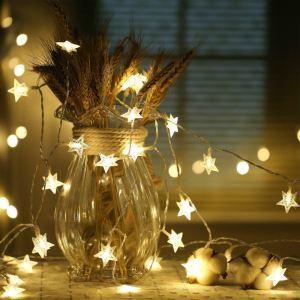 Guirlande 40 LED étoiles design décoration pour Noël chambre
