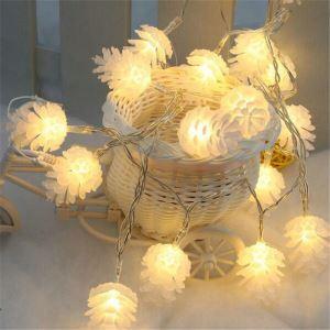 Guirlande lumineuse 40 LED design en forme de pommes de pin décoration pour sapin de Noël