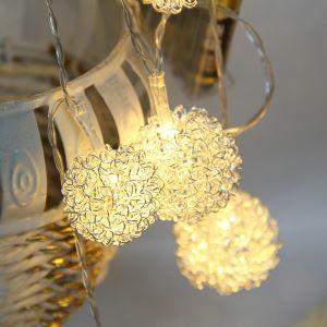 Guirlande lumineuse LED ciselé décoration de sapin pour Noël d'or