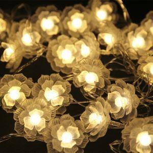 Guirlande lumineuse en forme de fleur LED design décoration pour Noël