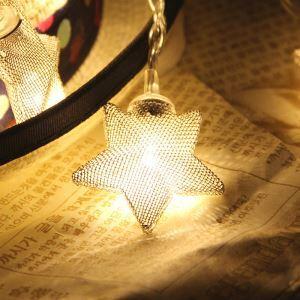 Guirlande lumineuse en forme d'étoile LED design décoration pour Noël