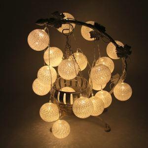 Guirlande lumineuse en forme de Boule de coton LED design extérieur décoration pour Noël