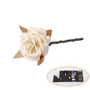 DIY Rose en bois délicate fait à la main avec des outils décoration design pour chambre salle cadeau d'amoureux