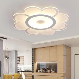 Plafonnier LED lampe de plafond pour salle à manger chambre luminaire fleur géométrique simple moderne à 4 modèles