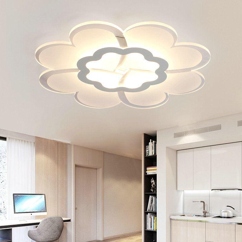 Plafonnier led lampe de plafond pour salle manger chambre luminaire fleur g om trique simple - Plafonnier pour salle a manger ...
