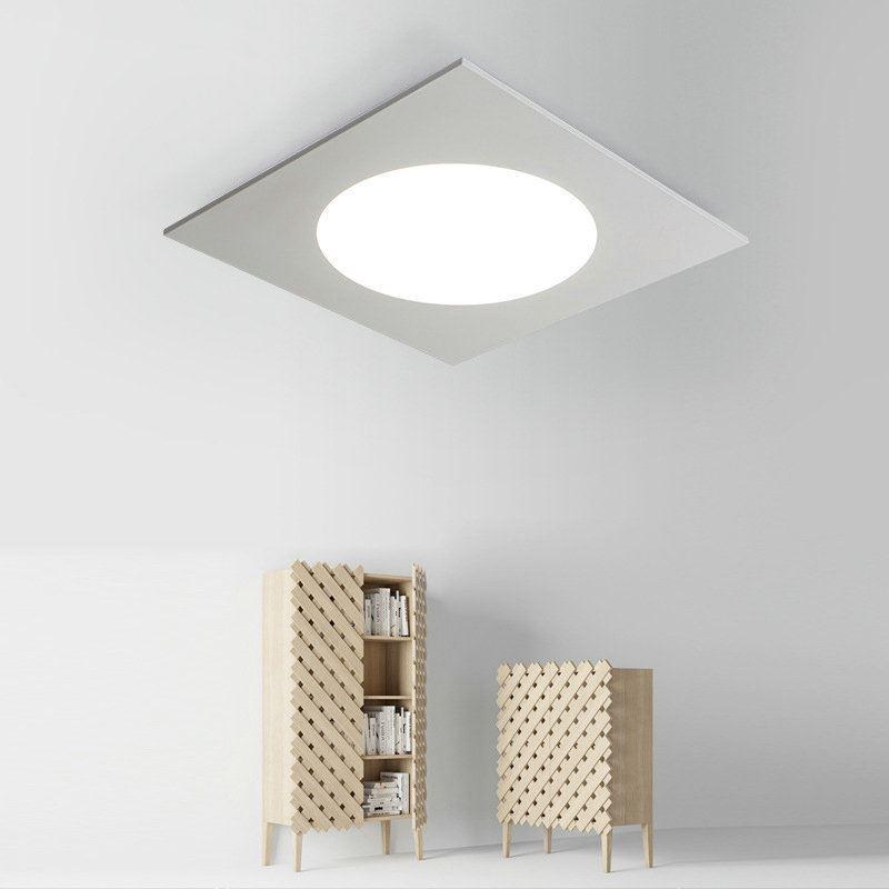 plafonnier lampe de plafond pour chambre d 39 enfant couloir luminaire carr simple moderne 2 mod les. Black Bedroom Furniture Sets. Home Design Ideas