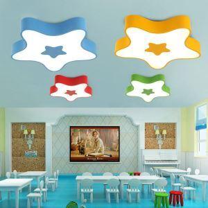 Plafonnier LED D45cm pour chambre d'enfant couloir luminaire étoile à 5 modèles