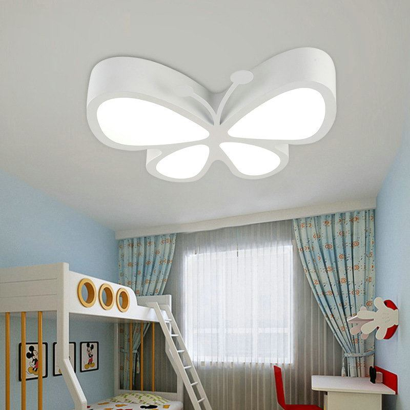 plafonnier led l 45 cm acrylique papillon 5 mod les pour chambre d 39 enfant. Black Bedroom Furniture Sets. Home Design Ideas
