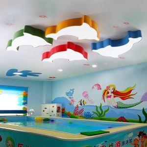 Plafonnier dauphin LED L 55cm pour chambre d'enfant couloir 5 modèles