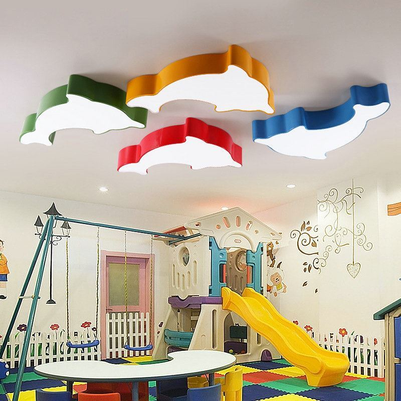 plafonnier lampe de plafond pour chambre d 39 enfant couloir luminaire dauphin cr atif simple. Black Bedroom Furniture Sets. Home Design Ideas