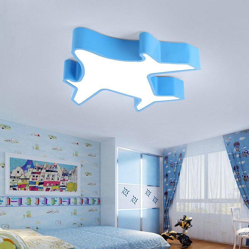 plafonnier lampe de plafond pour chambre d 39 enfant couloir luminaire avion cr atif simple moderne. Black Bedroom Furniture Sets. Home Design Ideas