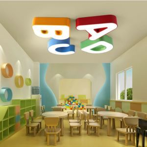 Plafonnier lampe de plafond pour chambre d'enfant couloir luminaire ABCD simple moderne à 4 modèles