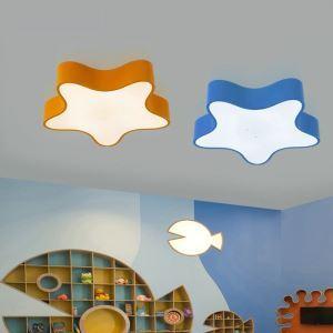 Plafonnier lampe de plafond pour chambre d'enfant couloir luminaire étoile de mer simple moderne à 3 modèles