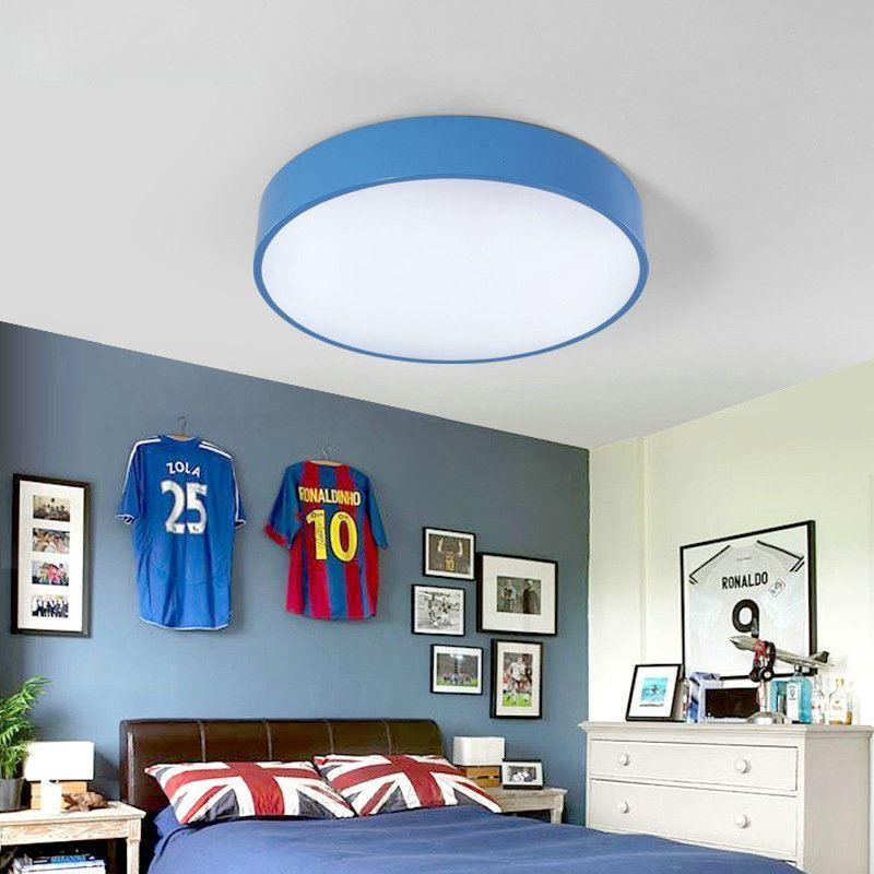 plafonnier lampe de plafond pour chambre d 39 enfant couloir luminaire rond simple moderne 3 mod les. Black Bedroom Furniture Sets. Home Design Ideas