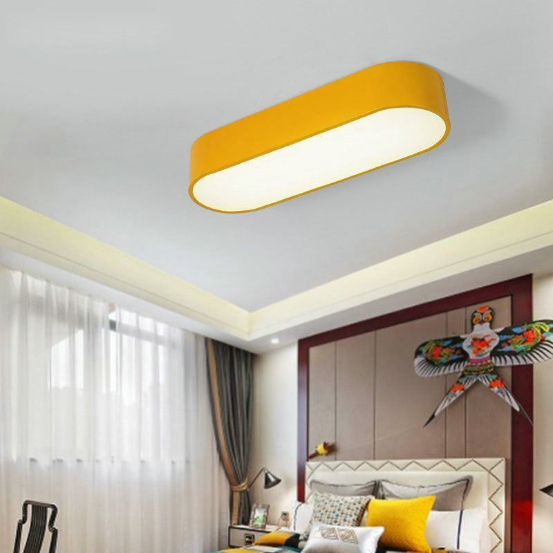 plafonnier lampe de plafond pour chambre d 39 enfant couloir luminaire ovale cr atif simple moderne. Black Bedroom Furniture Sets. Home Design Ideas