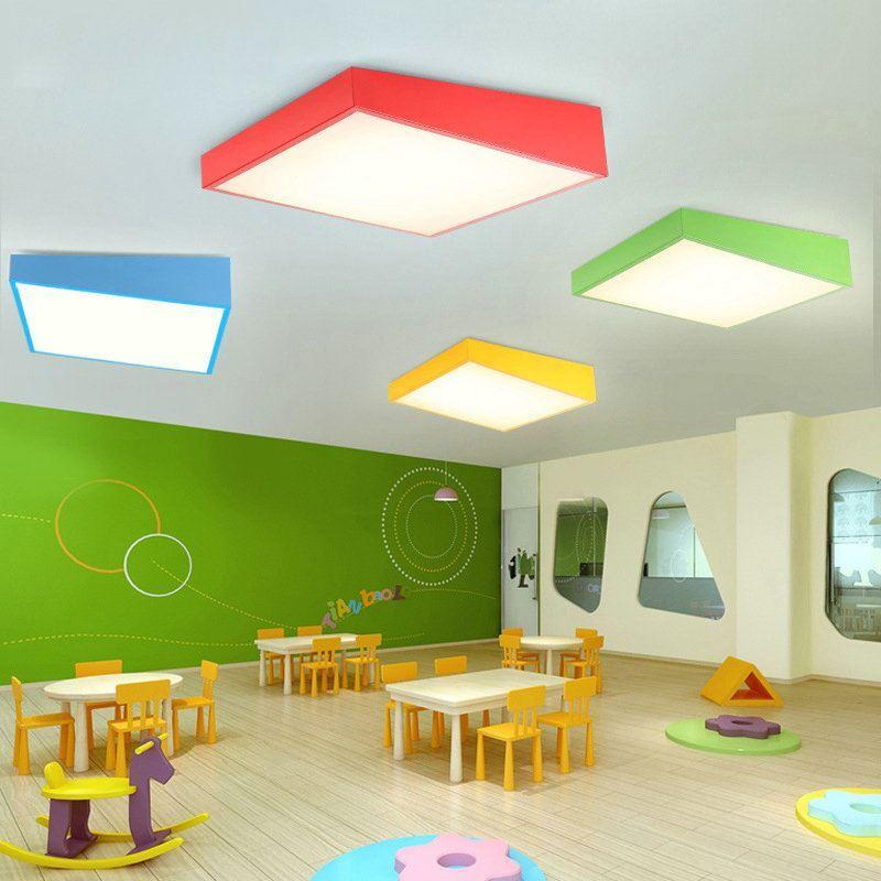 plafonnier lampe de plafond pour chambre d 39 enfant couloir luminaire g om trique cr atif simple. Black Bedroom Furniture Sets. Home Design Ideas