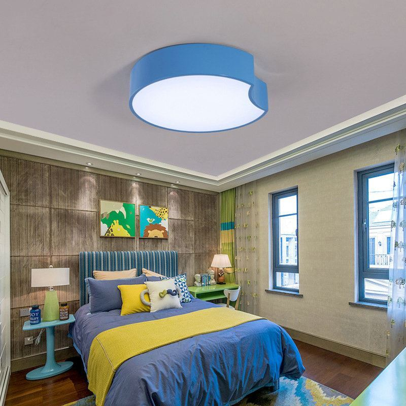 plafonnier lampe de plafond pour chambre d 39 enfant couloir luminaire g om trique simple moderne. Black Bedroom Furniture Sets. Home Design Ideas
