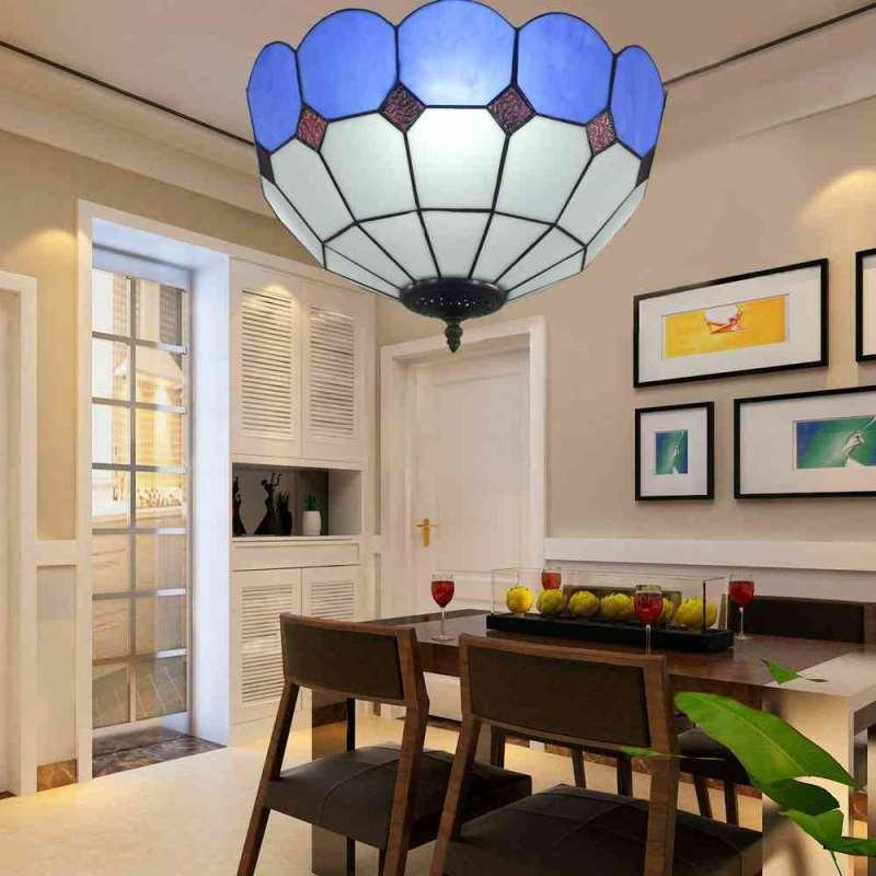 plafonnier en verre d30cm luminaire pour salon cuisine chambre. Black Bedroom Furniture Sets. Home Design Ideas