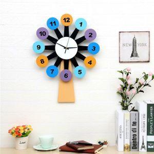Horloge murale avec cadre de photo moulin à vent créatif pour chambre salle style moderne simple