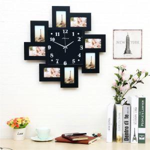 Horloge murale avec cadre de photo Smile créatif pour chambre salle 2 modèles style moderne simple
